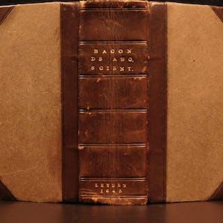 1645 1ed RARE Francis Bacon Augmentis Scientiarum Philosophy Science Technology