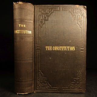 1853 Constitution of United States Declaration of Independence Hickey Americana