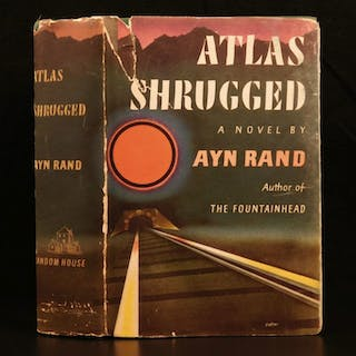 1957 1st printing Atlas Shrugged by Ayn Rand Objectivism Dystopian Philosophy