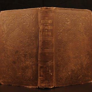 1853 Buccaneers in America Pirates Caribbean Exquemelin Illustrated Shipwrecks