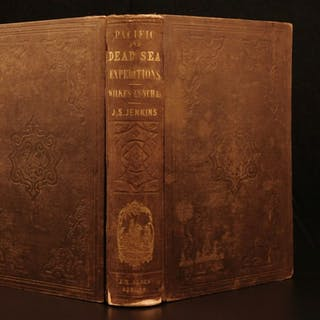 1850 1ed Capt Wilkes Pacific US Expedition Australia Antarctica California GOLD
