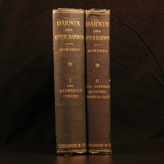 1893 Charles Darwin & After Darwin Evolution Natural Selection Biology Romanes