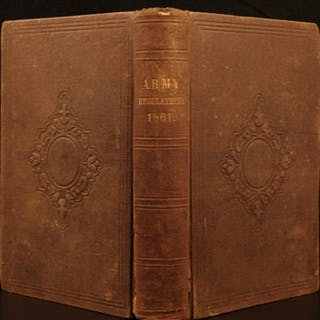 1861 US Army Regulations Military Civil War Union Soldier Weapons