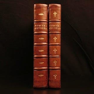 1656 Homer Iliad & Odyssey Greek Mythology Didymus Commentary Elzevier Latin 2v