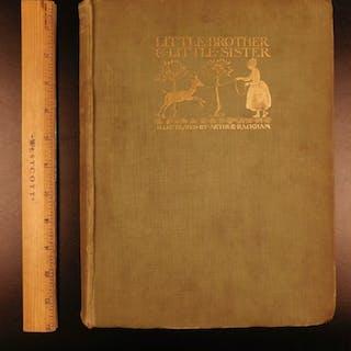 1917 1st ed Little Brother & Sister Grimm Fairy Tales Arthur Rackham