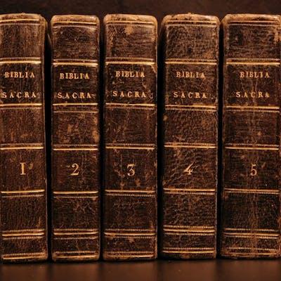 1647 BEAUTIFUL Biblia Sacra Vulgate Holy Bible Gualteri Latin Sixtus V Cologne