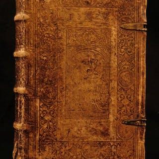 1569 BIBLE Incredible REFORMATION BINDING Plantin Hentenius BIBLIA Antwerp