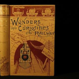 1884 Wonders of Railroads Trains Locomotives Engineering Illustrated