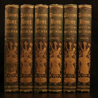 1882 Famed Edward Gibbon Decline & Fall of Roman Empire Caesar ROME 6v SET