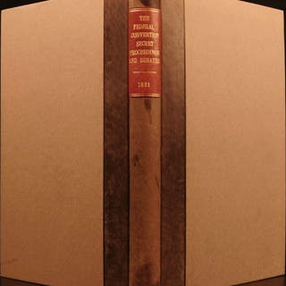 1821 1ed Secret Proceedings United States Constitution Debates Americana Yates