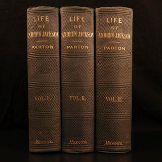 1861 Life of Andrew Jackson War of 1812 Native American Indians US President 3v
