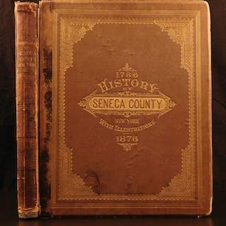 1876 History of Seneca County New York Illustrated Scenery Folio City Views
