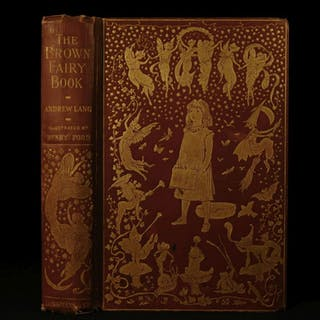 1904 1st ed Brown FAIRY Book Andrew Lang Mermaids Elves Native American Indians