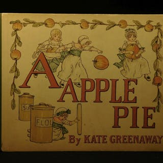 1910 Kate Greenaway Apple Pie Color Illustrated Children's Alphabet Literature