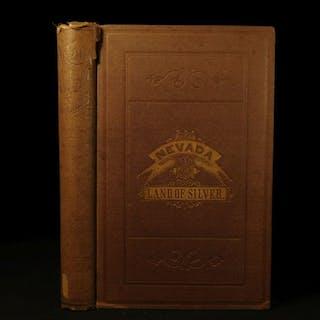 1876 1ed NEVADA Land of Silver Americana Gold Rush Geology MINING Mills Powell
