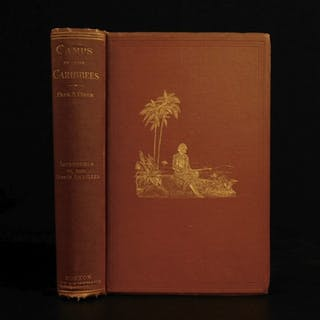 1880 1ed Caribbees & Antilles Illustrated Natural Science BIRDS Caribbean Ober