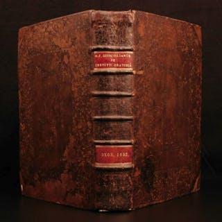 1693 1st OXFORD ed Quintilian Oratoria Rhetoric Public Speeches ROME Gibson