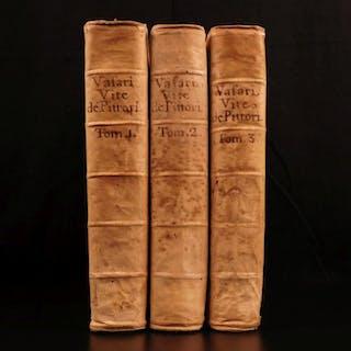 1648 Lives of Painters da Vinci Michelangelo Vasari ART Painting Architecture