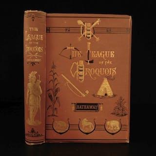1881 League of Iroquois Native American Indian Folklore Poems Mythology