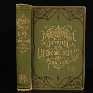1877 1st ed Mormonism Unveiled John Lee Mountain Meadows Massacre Polygamy LDS