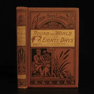 1879 Jules Verne Around the World in 80 Days Adventure Voyages Balloon Travel