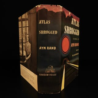 1957 TRUE 1st edition 1st printing Atlas Shrugged by Ayn Rand Objectivism + DJ