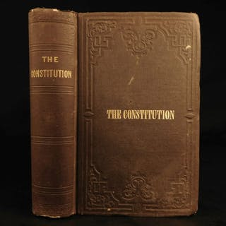 1853 Gold Rush Era USA Constitution Declaration of Independence Hickey
