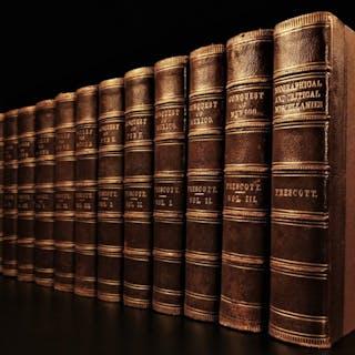1865 Works of William Prescott MEXICO Spain Ferdinand Isabella Inca