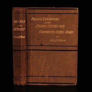 1880 1ed Confederate CSA Advance & Retreat Civil War Memoirs of John Bell Hood