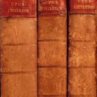 1809 Edward Coke Institutes of Laws of England Littleton Commentary 3v Set