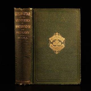 1870 1ed Life in Utah John Beadle anti MORMON Polygamy Latter-Day Saints Rites