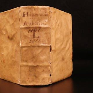 1582 Aphorisms of Hippocrates Medicine SECRETS Greek & Latin Surgery Leoniceno