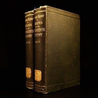1896 Economic History of Virginia Native American INDIANS & SLAVERY