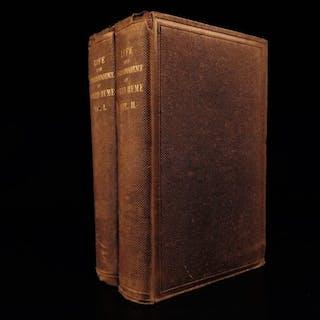 1846 Life of David Hume Scottish Philosophy English Enlightenment Politics 2v