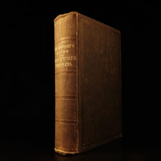 1882 LAW American Supreme Court Justices Lives John Jay John Marshall Santvoord