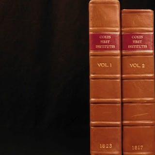 1823 Edward Coke Institutes of Laws of England Littleton Commentary 2v Set
