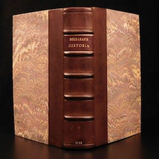 8f3d2e807d6 1762 SCOTLAND George Buchanan King Arthur Mary Stuart Scottish Aberdeen