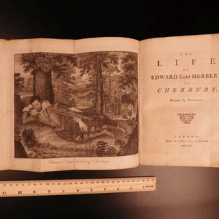 1770 Life of Edward Herbert Lord of Cherbury England Hunting Prince of Orange