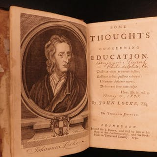 1752 John LOCKE Some Thoughts Concerning Education English Philosophy Scotland