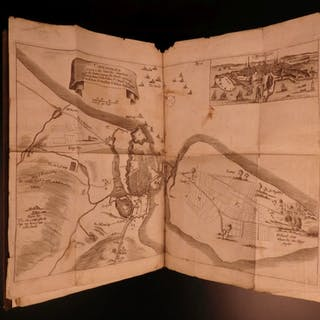 1670 Late Warres in Denmark Copenhagen Roger Manley Dano-Swedish WAR MAP Sweden