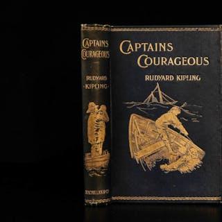 1897 1st ed Rudyard Kipling Captains Courageous New England FISHING Adventure