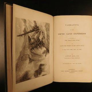1836 1ed Capt Back Narrative of Arctic Land Expedition Voyage Indians
