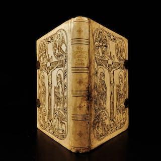 1887 CAXTON Golden Legend of the CROSS Medieval Woodcut Illustrations Veldener