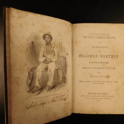 1856 1st ed Twelve Years a Slave Solomon Northrup Slavery Kidnapping Memoir