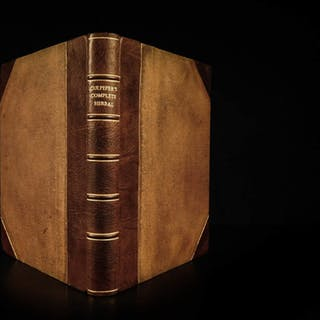 1850 English Physician Culpeper HERBAL Cures Alchemy Astrology Color