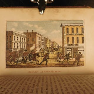 1882 Jesse James Frank Younger Gang Missouri Outlaws Bank Robbers Illustrated