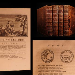 1721 1st ed Works of Joseph Addison English Plays BANNED BOOKS 4v SET