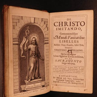 1685 Cambridge 1ed Imitation Christ Thomas Kempis + Widdrington Coena Dominica