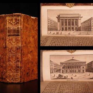 1788 1ed French Almanac Parisien Louis XVI Illustrated Tourist Guide