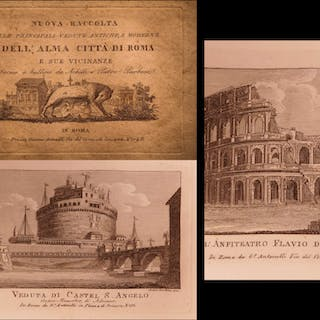 1830 1st ed Views of ROME Illustrated Vasi Engravings Pantheon Coliseum Vatican
